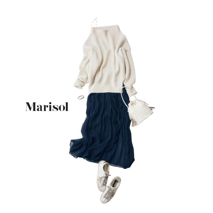 姪の運動会。出番のない私は白×ネイビーで爽やかに控えめに応援!Marisol ONLINE|女っぷり上々!40代をもっとキレイに。