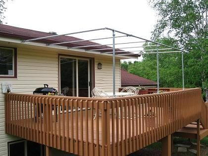 Diy Canopy With Pvc Piping Too Look Like This Patio