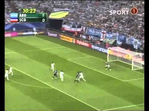 Goal by Esteban Cambiasso. Argentina vs Serbia - Germany 2006 world cup - YouTube