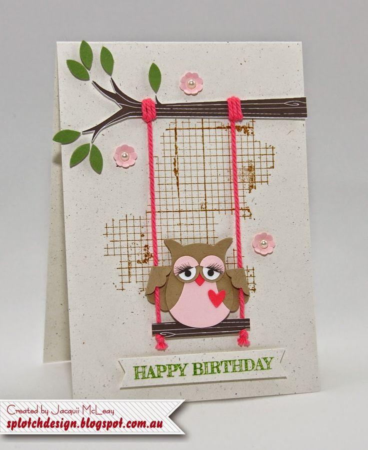 Sweet Swinging Owl Card