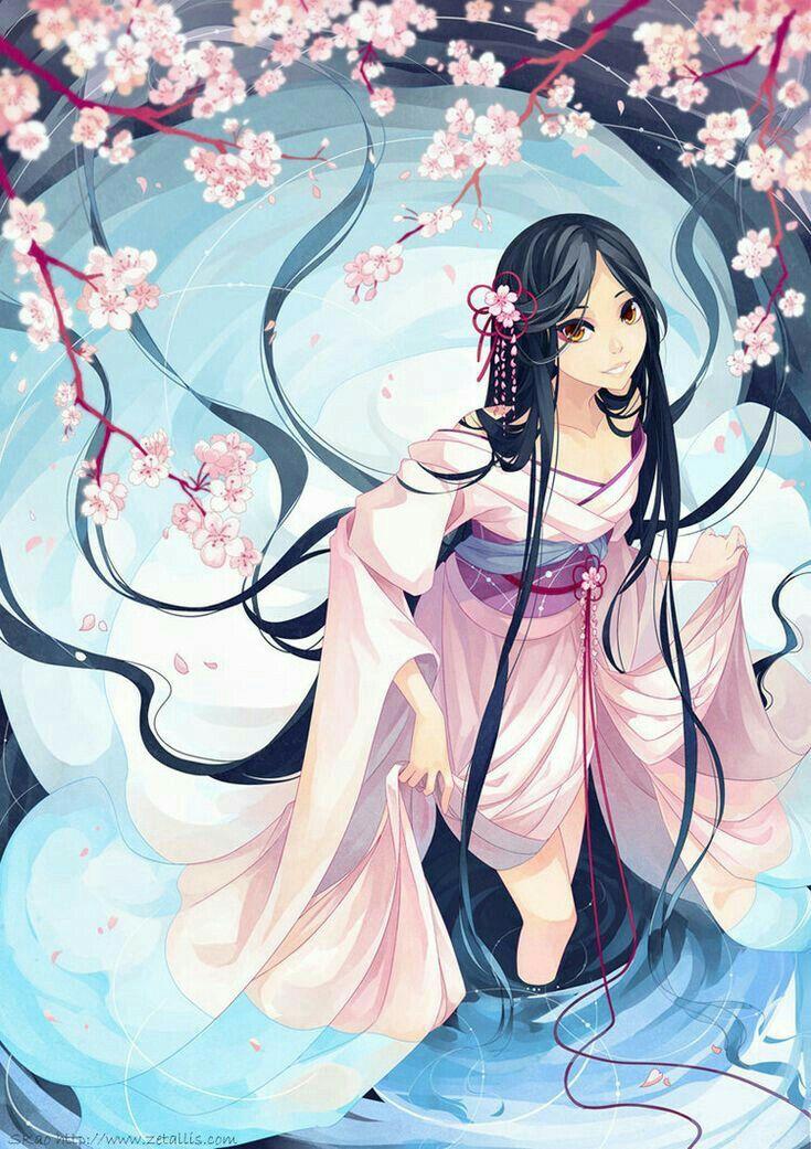 Японские картинки аниме девушки