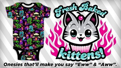 Fresh Baked Kittens Baby Onesies by Harebrained Inc. —Kickstarter