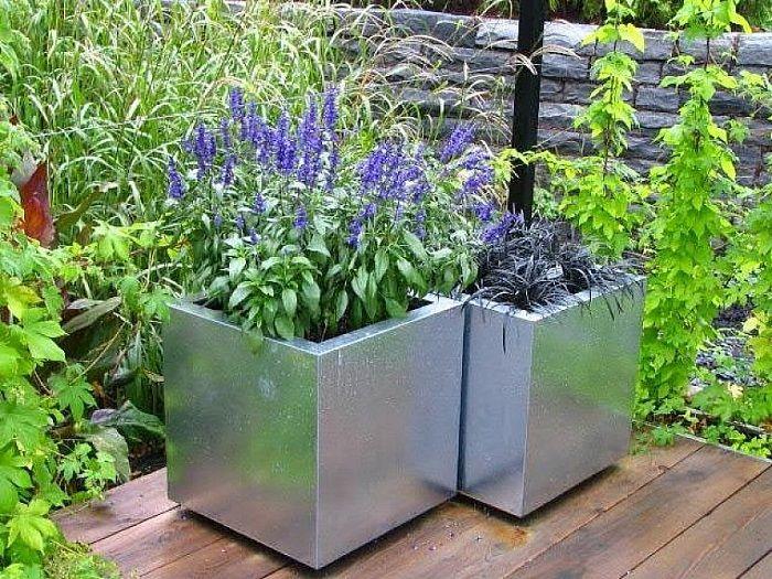 attractive container gardening ideas in modern design