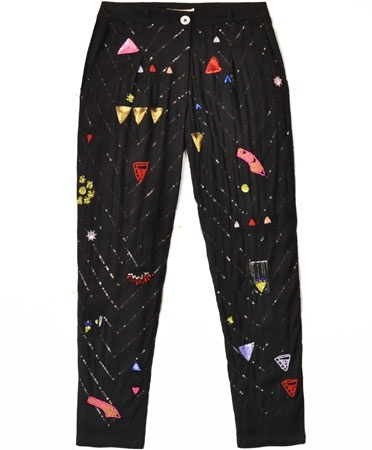 Mara Hoffman Black Beaded Sequin Twill Pant. So expensive, but I WANT THESE SO BAD.