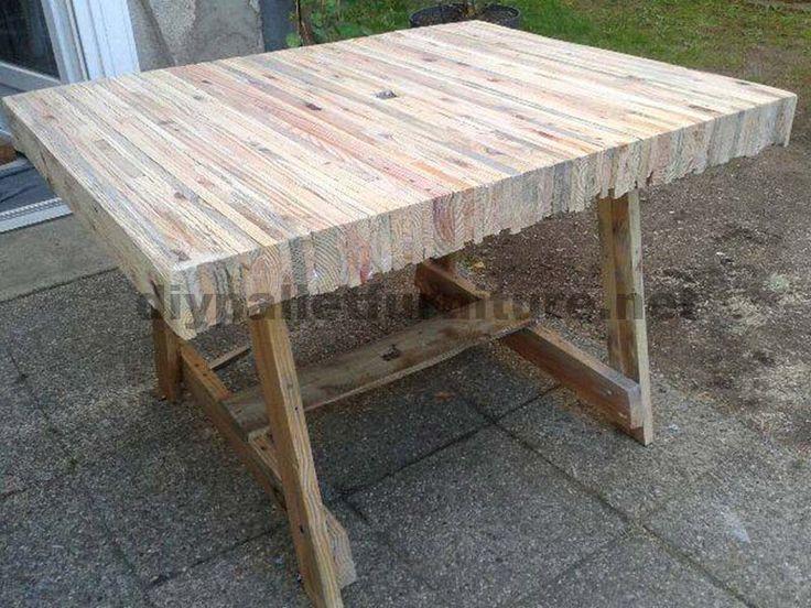 Tisch Gebaut Kleben Paletten Planken