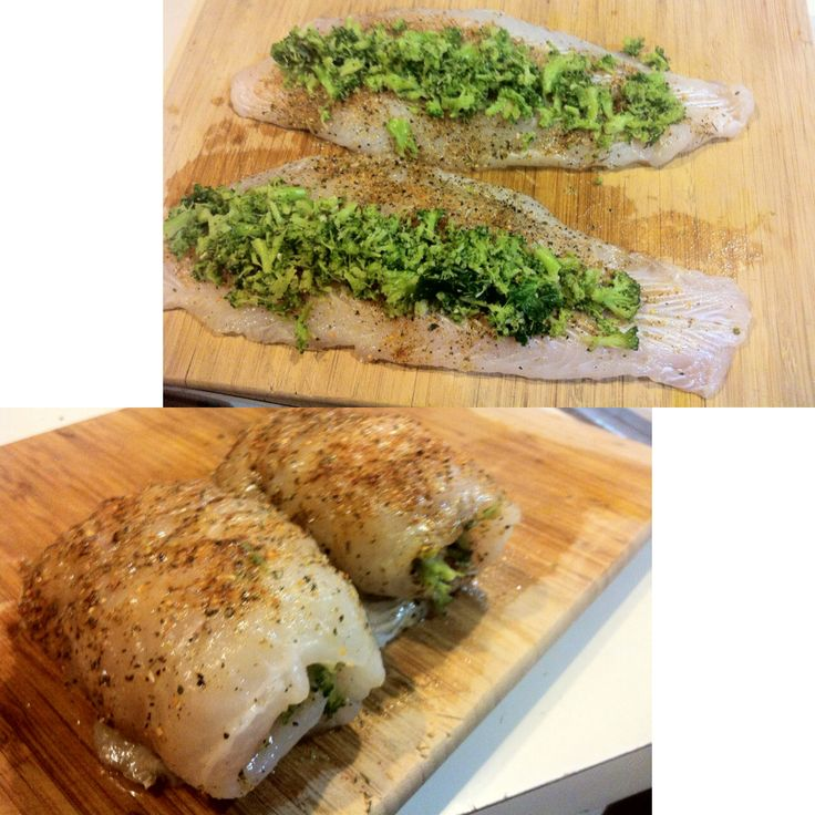 Broccoli stuffed swai pangasius hypophthalmus fillets for Stuffed fish fillets