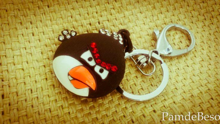 Las llaves siempre deben ir en un llavero con estilo. #KeyRing #Girls #Keys #Cute #AngryKeys #Bird #Pamdebeso