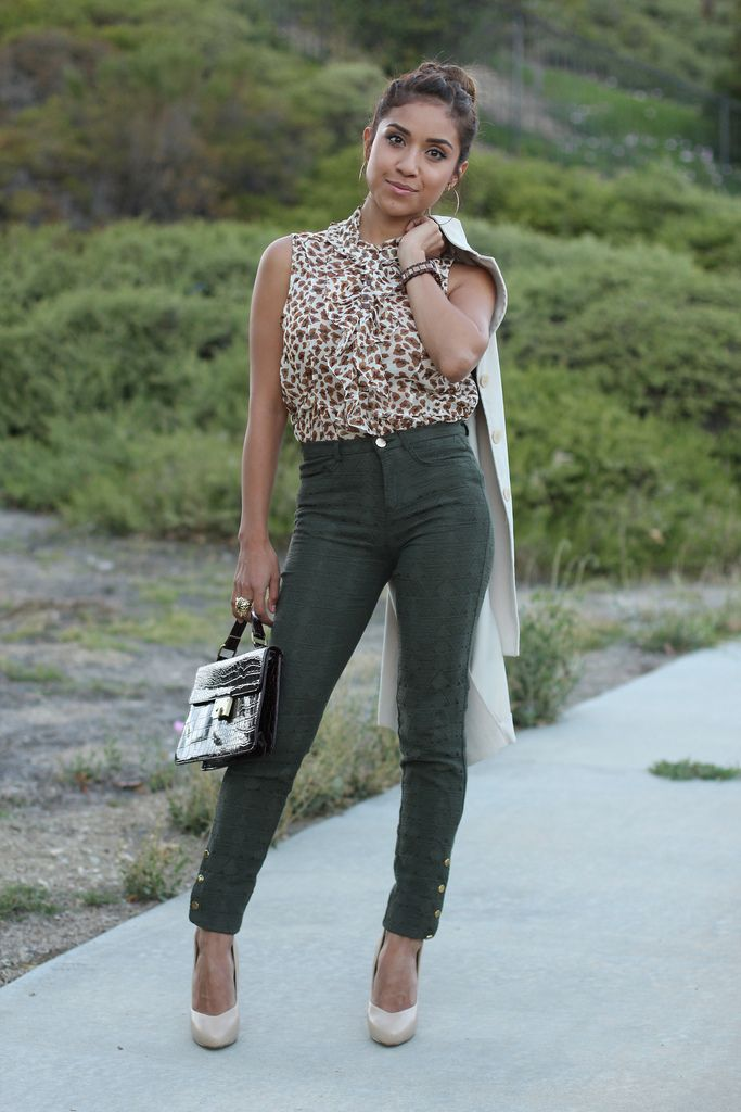 8 best images about Inspiring My Closet - Teal/Dark Green Pants on ...