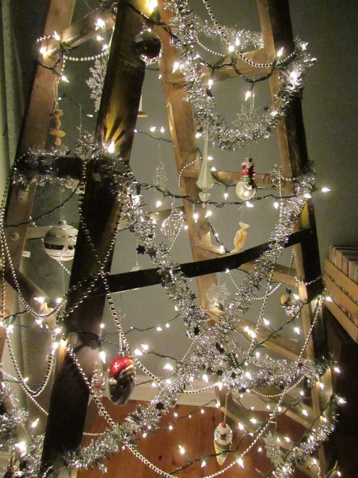 15 best TREE! images on Pinterest | Ladder christmas tree, Xmas ...