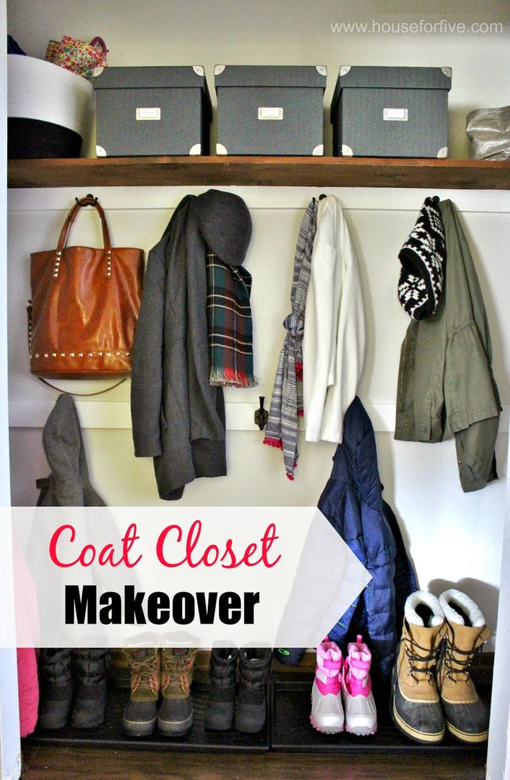 Coat Closet Makeover   Just A Few Simple Updates And This Closet Now Has  Loads Of