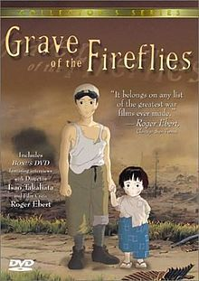 The Grave of the Fireflies - such a sad sad film - I been told many Japanese People find it too difficult to watch -  about the radiation sickness after the bombing of Hiroshima.  I was amazed to find they still sell the candy in the same tin that is so significant in the film - so had to buy it.......