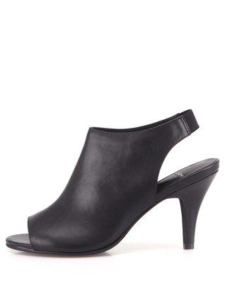 Vagabond - Černé boty na podpatku s volnou špičkou  Abbey - 1