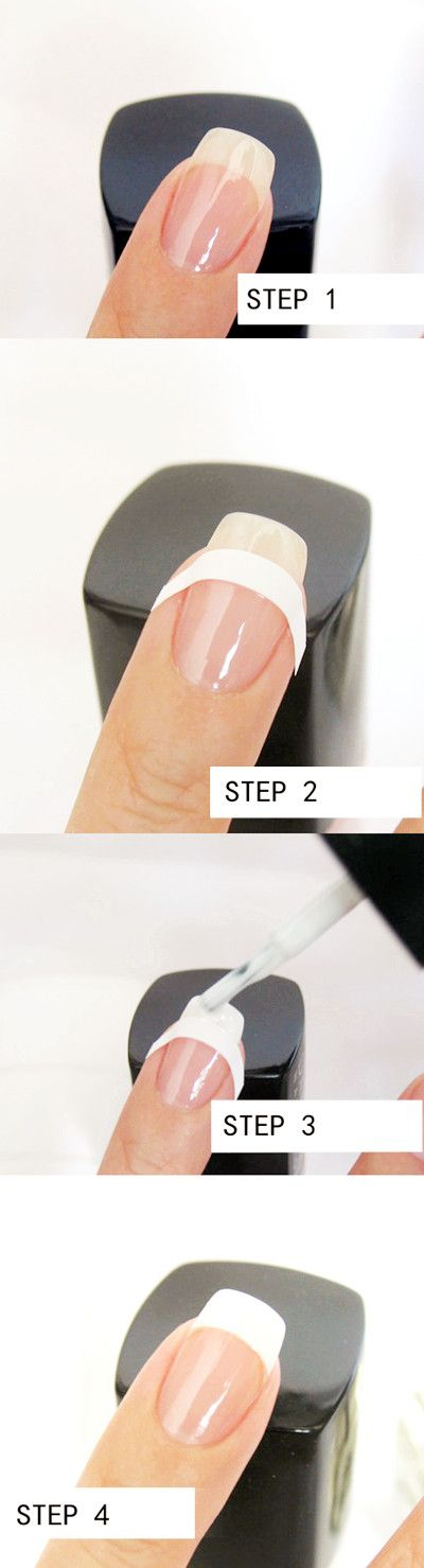 $0.99 New French Manicure Tip Guides Strip Nail Art Toes - BornPrettyStore.com