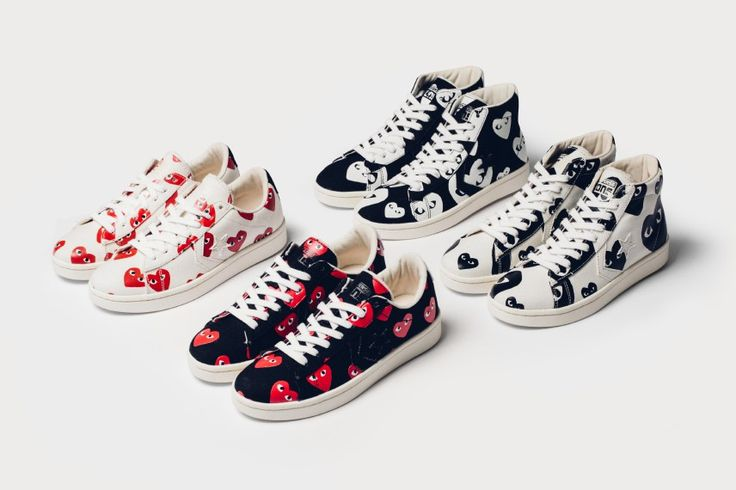 COMME des GARÇONS PLAY x Converse Pro Leather Collection #MustHaves #cdgPlay #commedesgarcons #CDG #converse #PinState