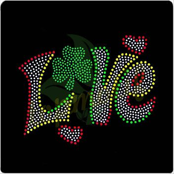 Love Transfer Iron On Rhinestone Designs For T Shirt