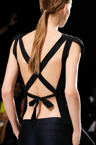 Dries Van Noten black straps. #runway