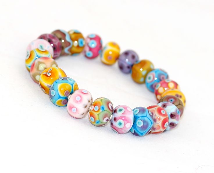 'Spicy beans' bracelet from my tiny glass beads.
