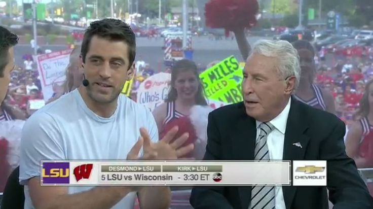 Aaron Rodgers Picked the Wisconsin Badgers -- Green Bay Packers quarterback Aaron Rodgers appeared on College Gameday on Saturday to pick the Wisconsin Badgers. He was right! Here's the clip.