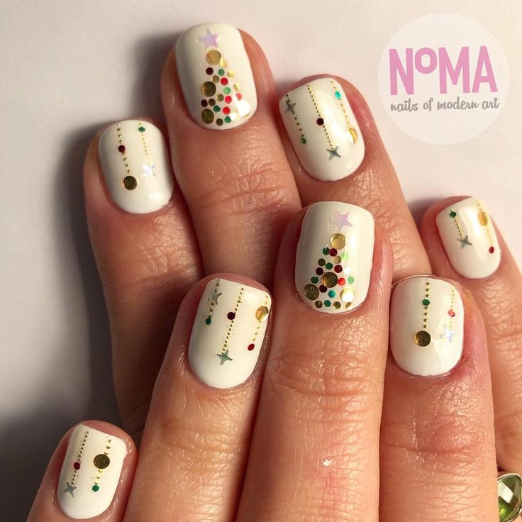 "37 Likes, 1 Comments - N°MA (@sfnoma) on Instagram: ""It's beginning to look a lot like #christmasnails for Ally! #winternails #nailgameonpoint…"""