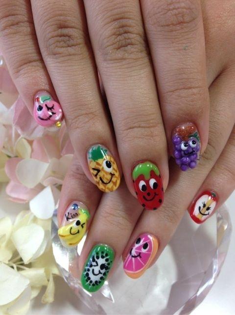 fruit #nail #nails #nailart