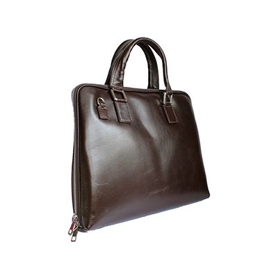 Ladies Dark Brown Leather Briefcase Handbag - Rrp: £99.99, our price: £59.99