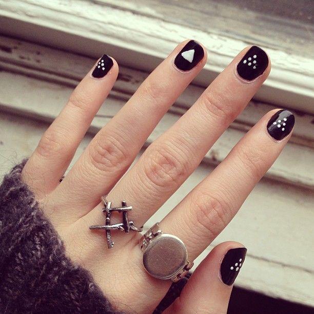 nägel schwarz weiß 5 besten