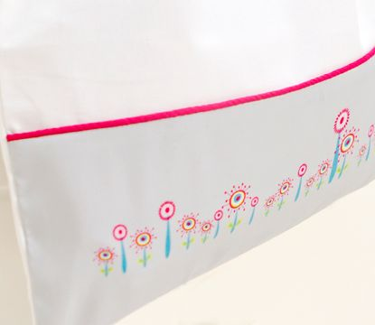 The Cats Whiskers #cat#whiskers#girl#nursery#linen#cotlinen#baby#toddler#playroom#pink#cot