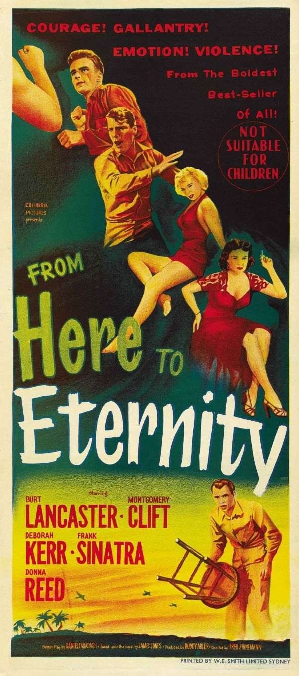 From Here to Eternity (1953), based on the novel by James Jones http://www.openroadmedia.com/from-here-to-eternity
