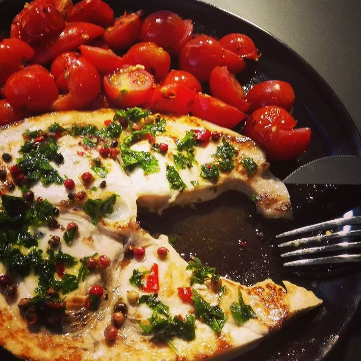 Today's lunch! #swordfish #steak #pachinos #habanero #chili #jummy #diet #healty