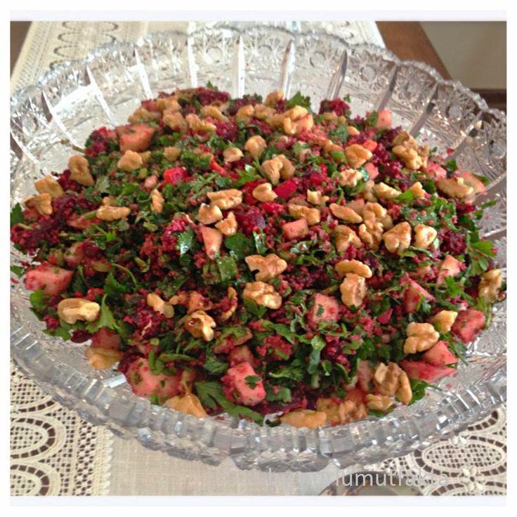 Değişik salata tarifleri,Pancarlı salata tarifleri,Bulgurlu salata tarifleri,Davet salataları,Diet salatalar..