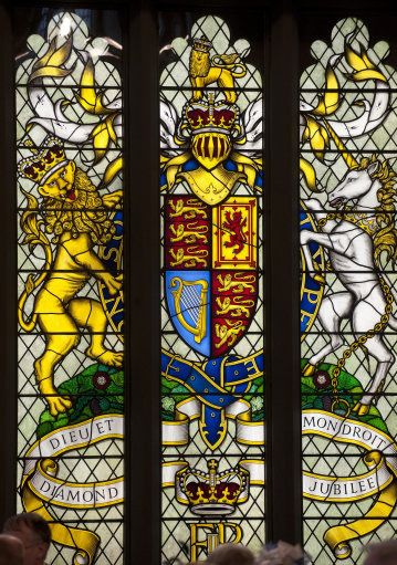 The Diamond Jubilee Stained glass window by The British Monarchy, via Flickr