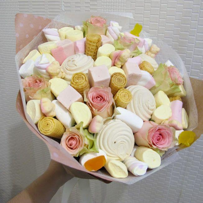 Букет цветов из пастилы