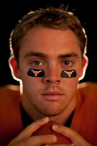 Darren Carroll photographs Colt McCoy for Sports Illustrated.