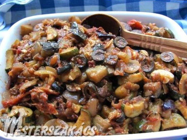Caponata (szicíliai padlizsánragu) recept