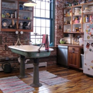 Mondays new york and style on pinterest for New york style kitchen