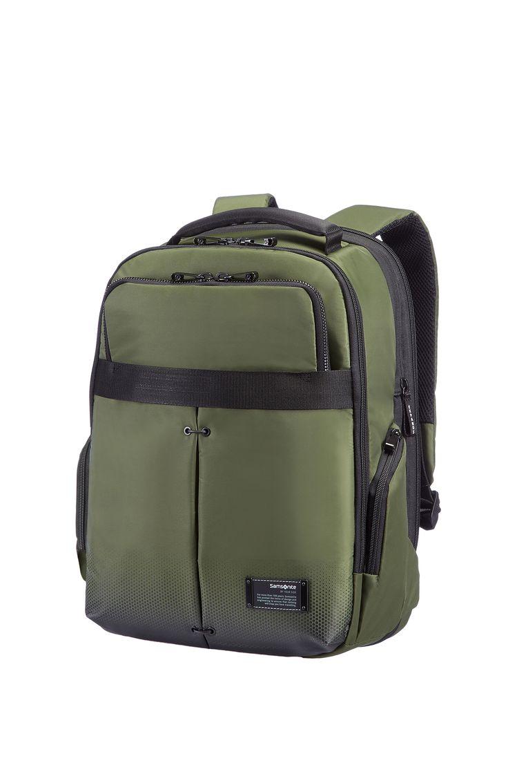 "CityVibe Urban Green Laptop Backpack 13"" - 14"" #Samsonite #CityVibe #Travel #Suitcase #Luggage #Strong #Lightweight #MySamsonite #ByYourSide"