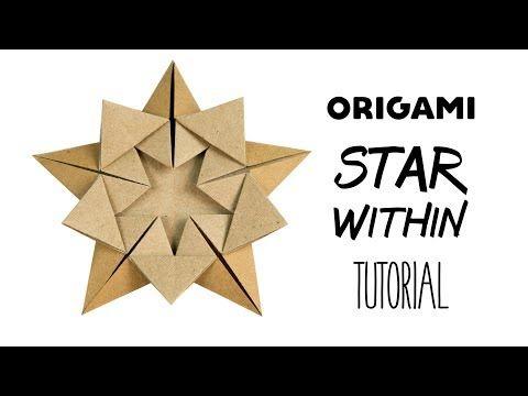 Origami Sterne Teelichthalter falten / basteln zu Weihnachten - YouTube