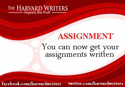 Do you want to relax? Go ahead; TheHarvardWriters will take care of your assignment.