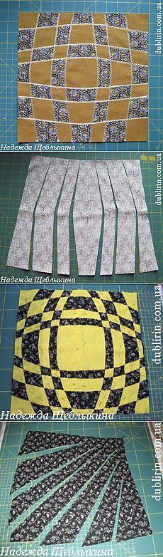 лоскутное шитье-переплетения