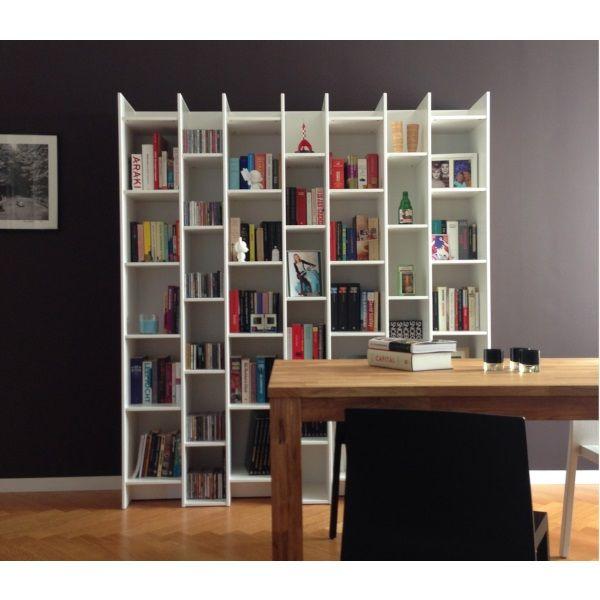 Woood Expand Boeken/Vakkenkast Wit Grenen - Standaard + 2 uitbreidingen