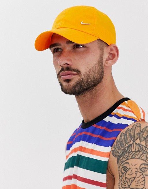 317fc9fa1 Nike metal swoosh cap in orange in 2019   Nike   Nike, Cap, Metal