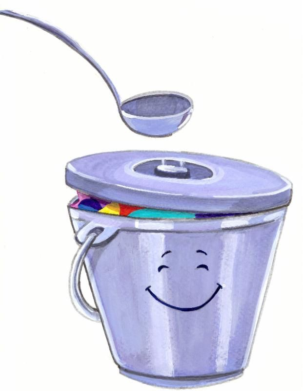 Secrets to Your Happiness Dippers and Lids Buckets