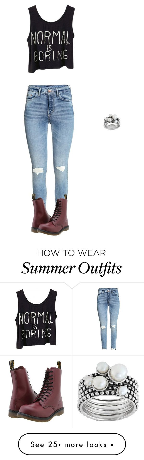"""""""Summer of 2016-outfit 28"""" by umanamelb on Polyvore featuring Dr. Martens"""