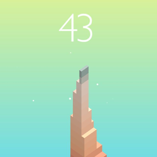 I scored 43 points in #Stack https://itunes.apple.com/app/stack/id1080487957
