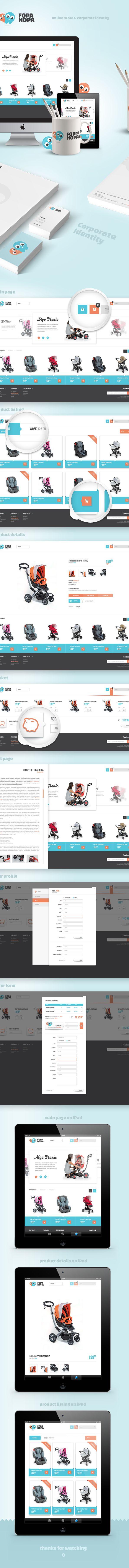 Fopahopa - Baby Store by Paweł Śliwa, via Behance