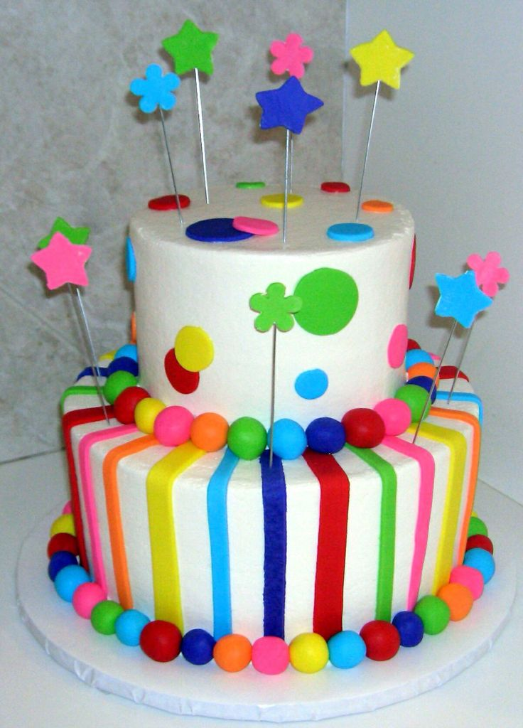 Multi color cake