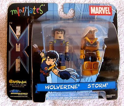 NEW - 2003 - MARVEL - MINIMATES - WOLVERINE AND STORM FIGURES - GREAT GIFT ITEM!