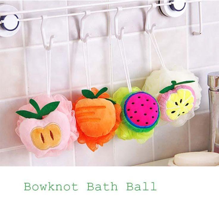 1Pc Candy Color Bath Scrubber Shower Spa Sponge Body Cleaning Scrub Bath Ball Bath Tool Accessory Y1-5