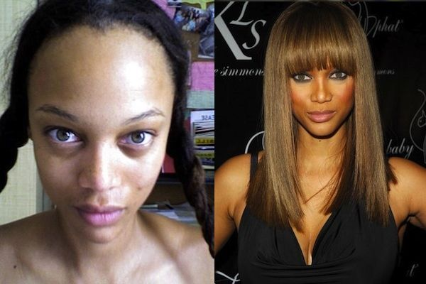 Tyra Banks tweeted this photo herself because she wanted women to know that there is a whole team of people responsible for making her look the way she does. You gotta respect that.
