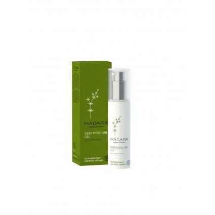 Aquí podrás comprar este fantástico Gel hidratante para piel grasa Deep Moisture Gel de Madara es natural y ecológico